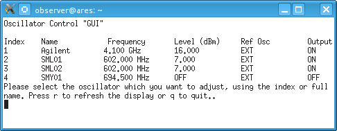 Oscillator GUI